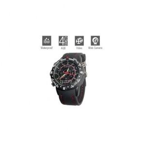 hidden Spy Watch Cameras - Hidden Waterproof Sports Watch with Web Camera (4GB)