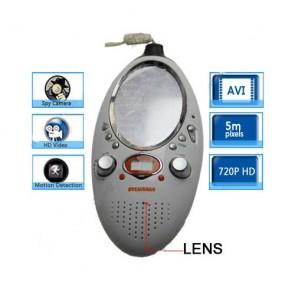 Bathroom Spy Shower Radio Camera - Bathroom Spy Radio With Mirror Hidden HD Bathroom Spy Camera Motion Detection DVR 16GB