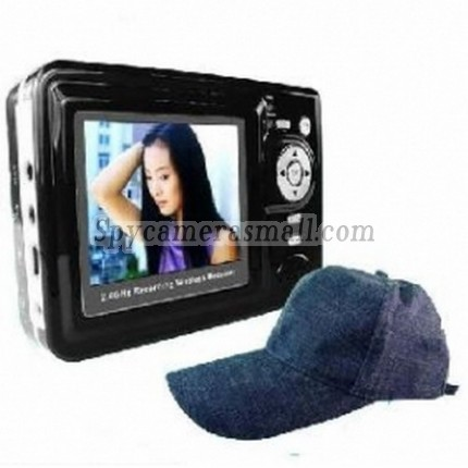 Wearing Class Hidden Spy Camera - Wireless Spy Camera-2.4GHZ Baseball Cap Camera Recorder