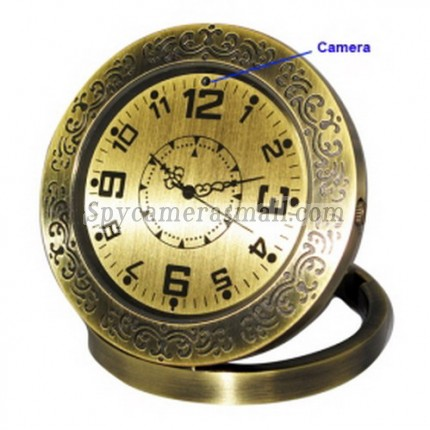 spy gear and spy cam - HD 1280x960 Clock Style Digital Video Recorder Motion-Activated Hidden Pinhole Color Camera