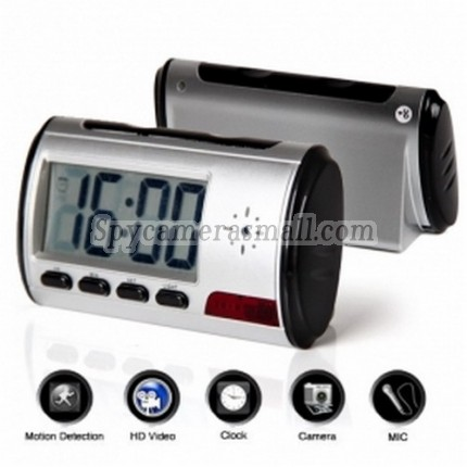 spy dvr - Digital Talking Clock with Hidden Security Camera + Motion Sensor