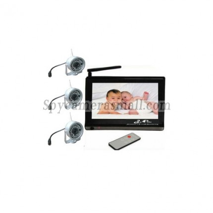 Baby spy camera - Baby Monitor Set (7 Inch Viewer + 3 Wireless Night Vision Cameras)