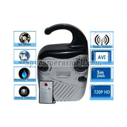 Waterproof Spy Radio Hidden HD 720P Spy Camera DVR 16GB (Motion Activated And Remote Control )