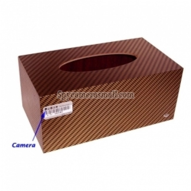 Toilet Roll Box covert Camera - 4GB Tissue Box Style Digital Video Recorder with Remote Control and Hidden Pinhole Color Camera