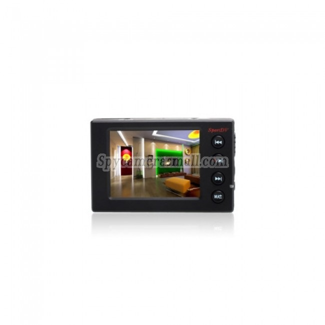 Remote Control Spy Button Camera Sports DVR with 2.5 Inch LCD Screen