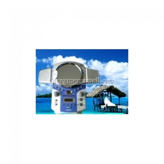 Spy Bathroom Camera CD Hidden Waterproof Camera - Shower AM/FM Clock Radio And CD Player Bathroom Spy Camera 720P HD DVR 16GB