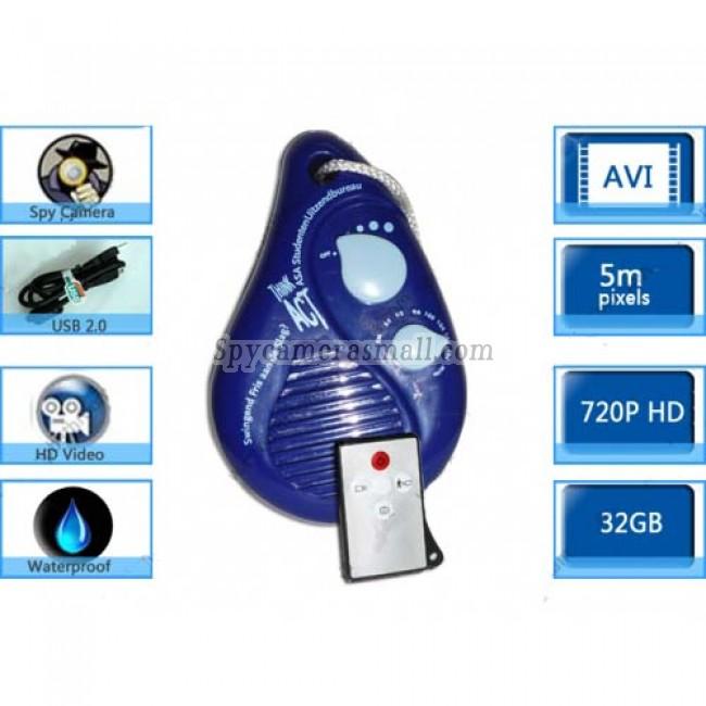 Bathroom Waterproof Spy Radio Camera DVR 32GB Motion Activated And Remote Control
