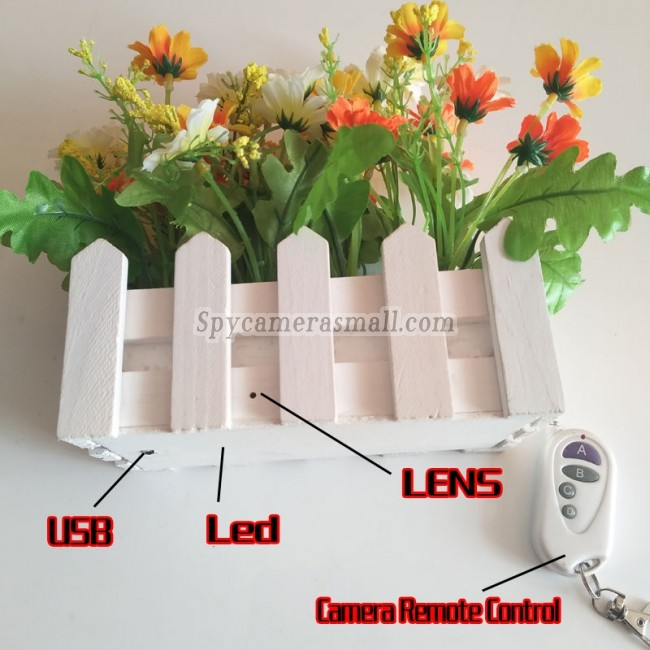 nanny cam indoor Artificial flower 16G Full HD 1080P DVR with remote control onoff