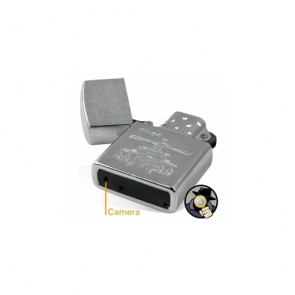 Spy Lighter Camera DVR - 4GB HD Silver Spy Camera Lighter DVR