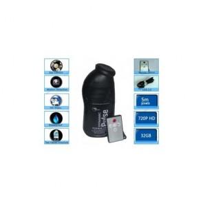 bathroom spy cameras - Bathroom Spy Camera Black Men's Shower Gel Mini Secret Pinhole Camera 32GB Motion Detection 720P DVR